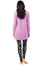 Model wearing Long Sleeve and Legging Pajamas - Unicorn, facing away from the camera image number 1