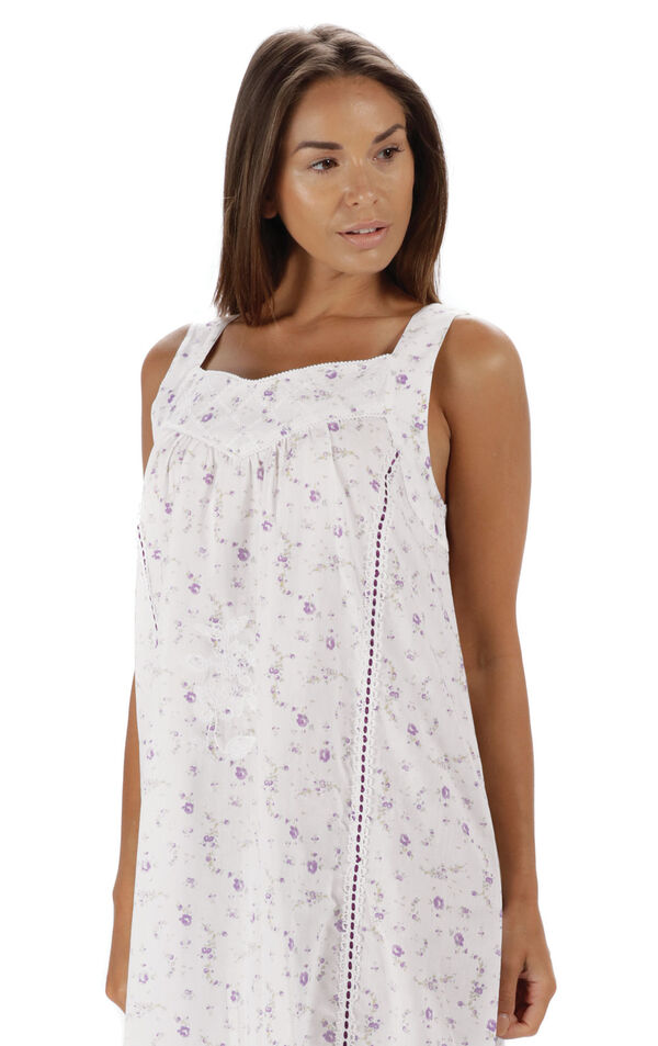 Model wearing Nancy Nightgown in Lilac Rose for Women image number 5