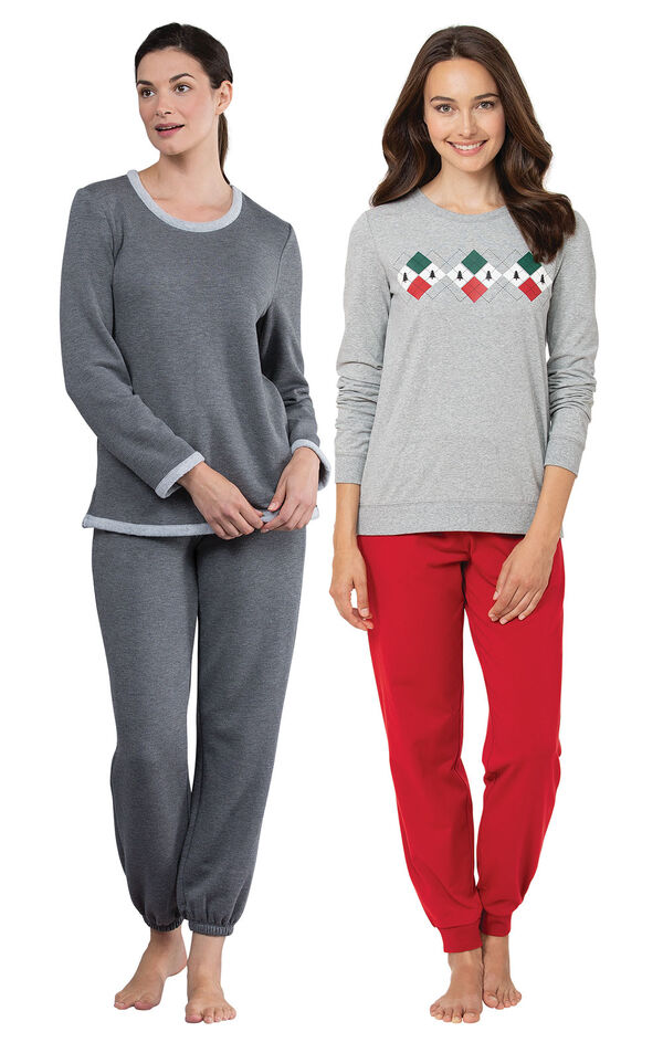 Holiday Argyle PJs and Charcoal World's Softest Jogger PJs image number 0