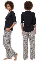 Luxurious Leopard Print Pajamas image number 1