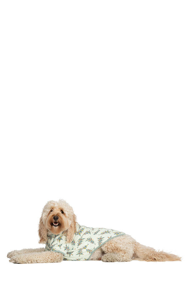 Dog wearing Green and White Balsam and Pine Dog Pajamas image number 2