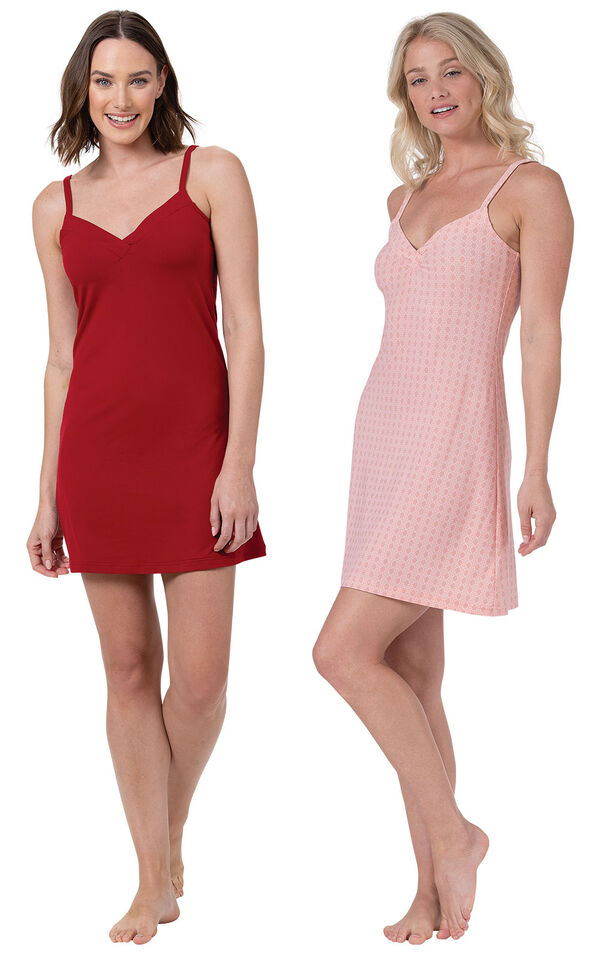 Red and Pink Naturally Nude Chemise image number 0