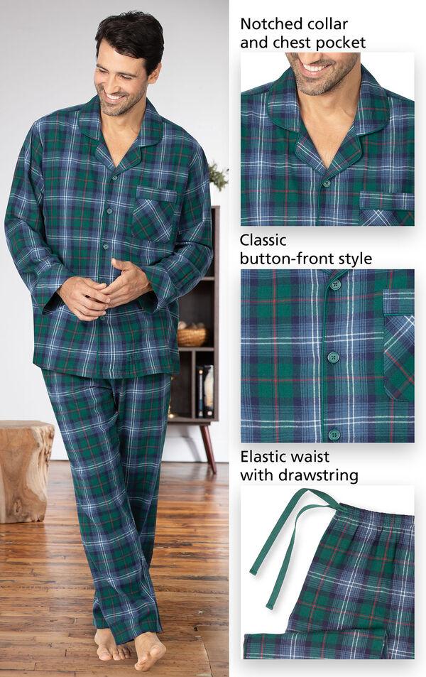 Heritage Plaid Flannel Men's Pajamas image number 3