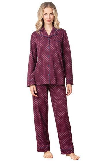 Classic Foulard Women's Pajamas - Burgundy