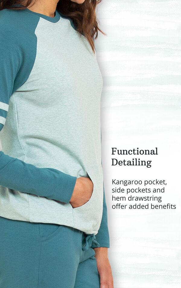 Functional Detailing - Kangaroo pocket, side pockets and hem drawstring offer added benefits image number 3