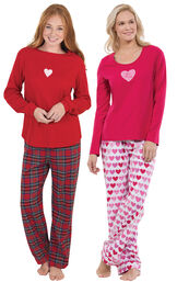 Valentine's Day Plaid PJs and Be Mine PJs image number 0