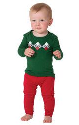 Holiday Argyle Infant Pajamas image number 0