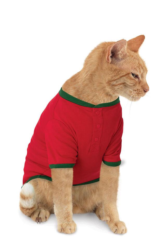 Holiday Argyle Cat Pajamas image number 0
