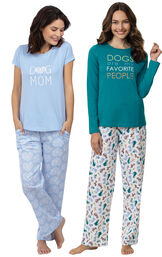 Models wearing Dogs Are My Favorite Pajamas and Dog Mom Pajamas image number 0