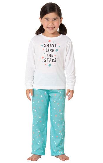 Long Sleeve Girls Pajamas - Shine Like The Stars