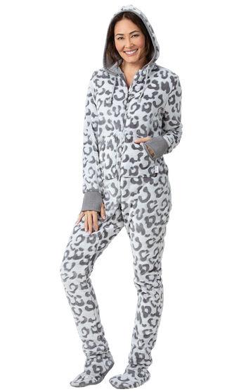 Hoodie-Footie™ - Snow Leopard