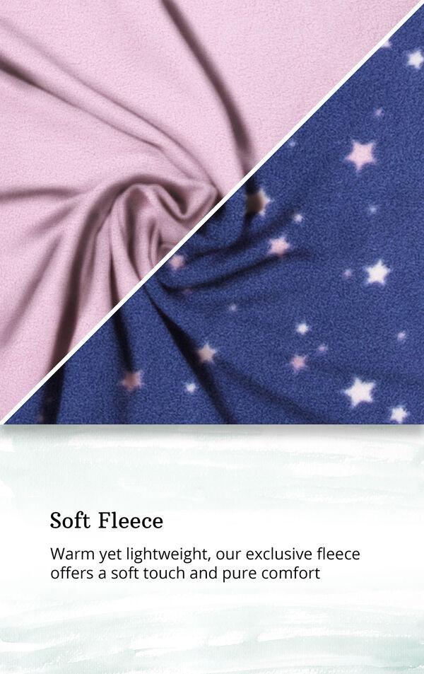 Blue Stars - Pink Top Fleece Jogger PJ for Women image number 4