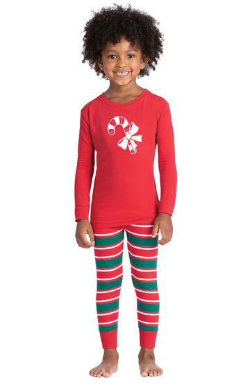 Christmas Stripe Toddler Pajamas
