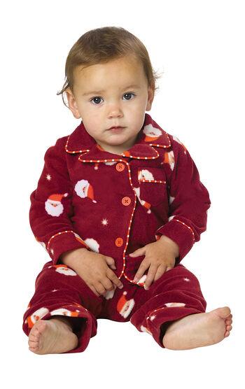 Santa Fleece Infant Pajamas