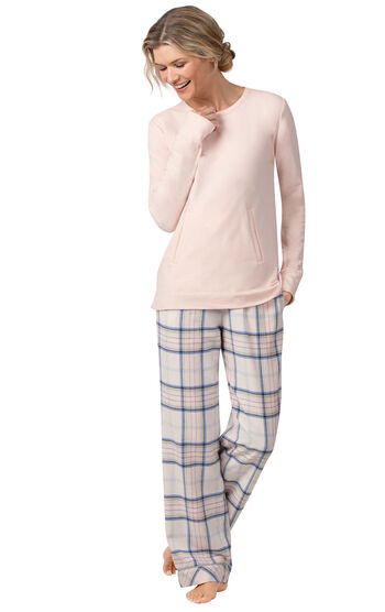 Addison Meadow Frosted Flannel Pajamas - Pink Plaid