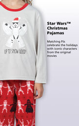 Star Wars Christmas Pajamas - Matching PJs celebrate the holidays with iconic characters from the original movies image number 3