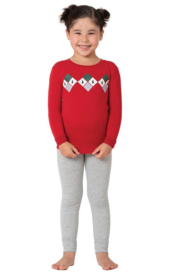 Holiday Argyle Girl's Pajamas image number 0