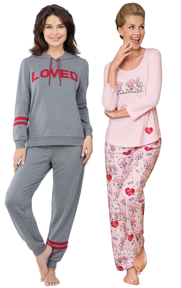 Loved Hoodie PJs and I Love Lucy Chocolate Factory PJs image number 0
