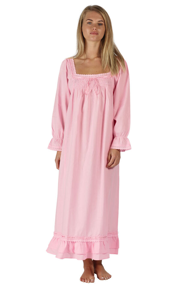 Model wearing Martha Nightgown in Pink for Women image number 0