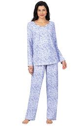 Addison Meadow|PajamaGram Naturally Nude Long Sleeve Pajamas - Lavender Print image number 0