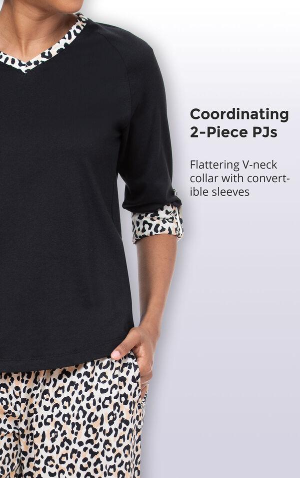 Luxurious Leopard Print Pajamas image number 3