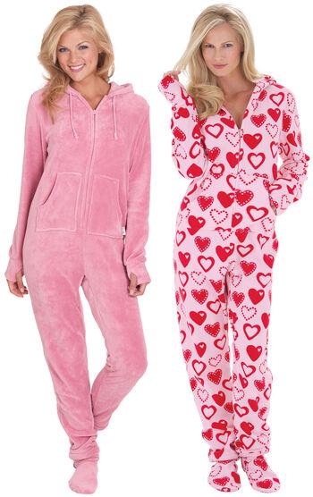Pink & Sweetheart Hoodie-Footie™ Gift Set
