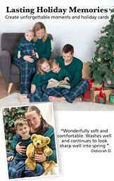 Customer Photos of families wearing Heritage Plaid Matching Family Pajamas image number 2