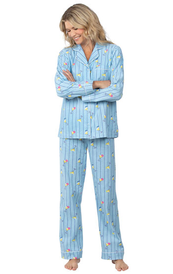 Margaritaville® Flannel Boyfriend Pajamas - Cocktail O'Clock