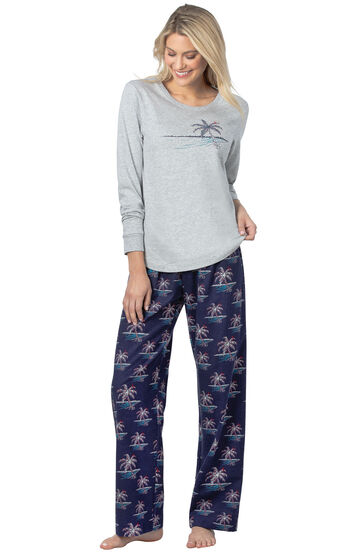 Margaritaville® Island Time Pajamas - Christmas Palm Trees