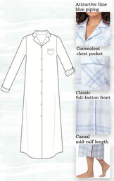 Addison Meadow PajamaGram Frosted Flannel Nightgown image number 3
