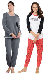 Friends PJs and Charcoal World's Softest Jogger PJs