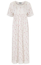Model wearing Helena Nightgown in Vintage Rose for Women image number 2