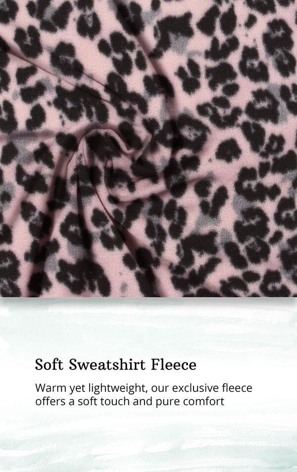 Pink Black Leopard Print Sleepshirt - Hood for Women image number 4
