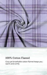 Lavender Plaid Button-Front PJ for Women image number 3