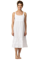Model wearing Ruby Nightgown in White for Women image number 0