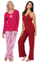 Be Mine PJs and Red Naturally Nude Cami PJs image number 0