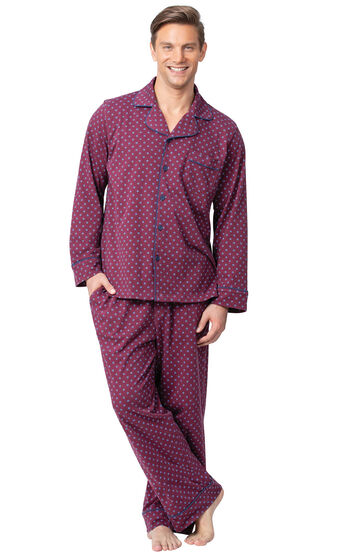 Classic Foulard Men's Pajamas - Burgundy