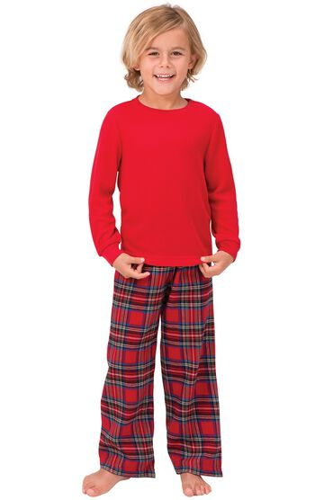 Stewart Plaid Thermal-Top Boys Pajamas