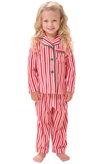 Candy Cane Fleece Toddler Pajamas