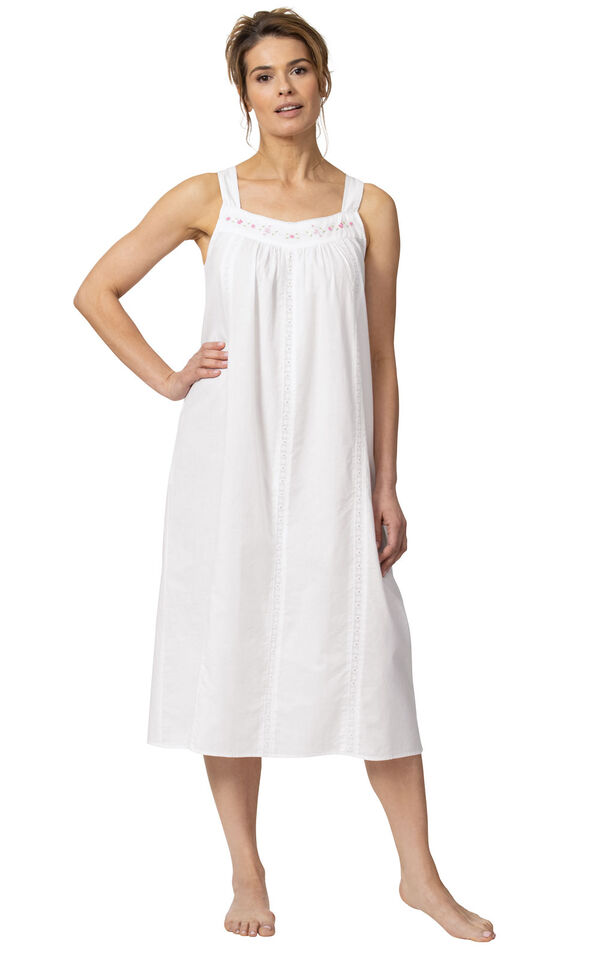 Model wearing Meghan Nightgown  in White for Women image number 3