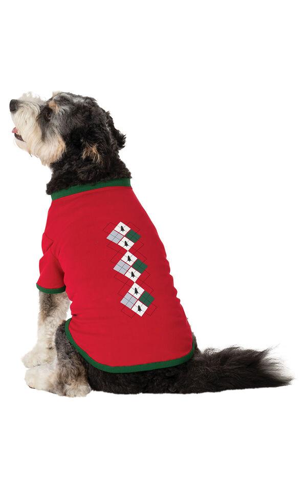 Holiday Argyle Dog Pajamas image number 1