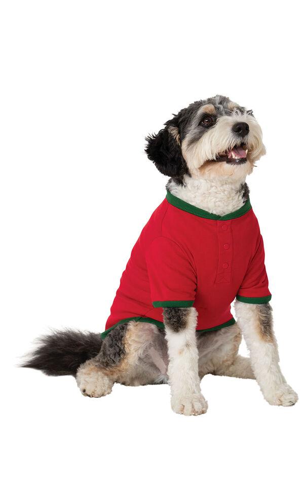 Holiday Argyle Dog Pajamas image number 0