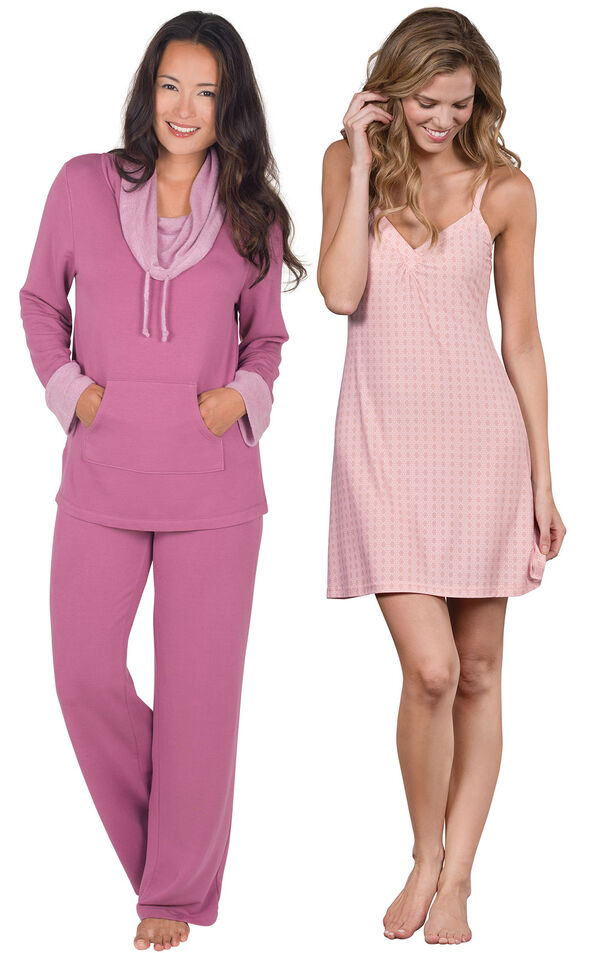 Raspberry World's Softest PJs and Pink Naturally Nude Chemise image number 0