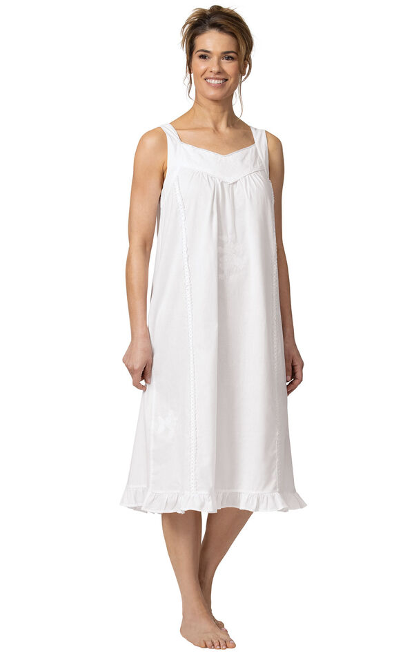 Model wearing Nancy Nightgown in White for Women image number 3