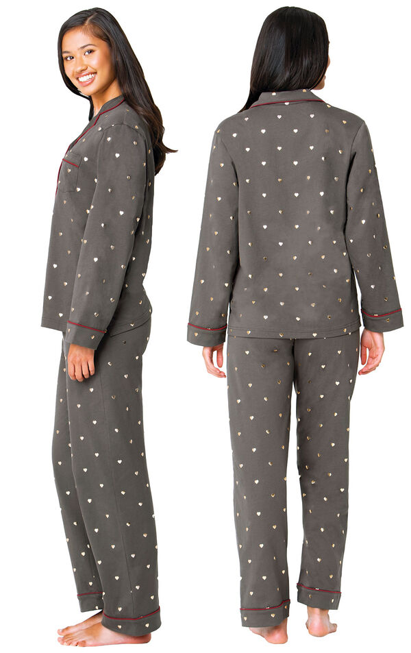 Heart of Gold Boyfriend Pajamas image number 1
