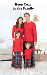 Yuletide Plaid Matching Family Pajamas image number 1