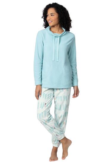 Addison Meadow PajamaGram Fleece Jogger PJs - Snowmen