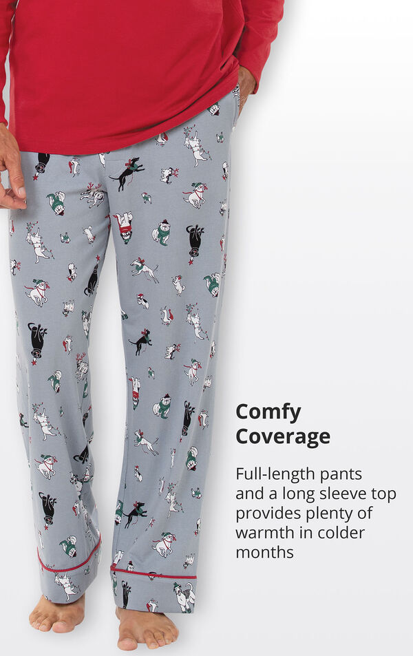 Happy Howlidays Men's Pajamas image number 4