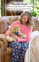 Home Is Where Your Cats Are Matching Pet & Owner PJs image number 1