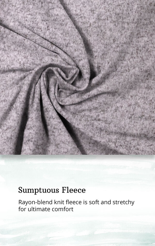Pink Fleece Lounge Robe for Women image number 4